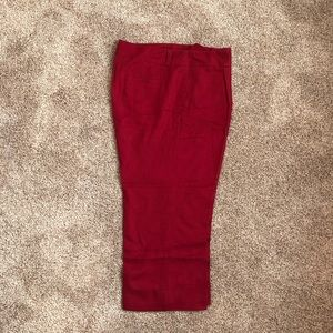 Rafaella red crop pants